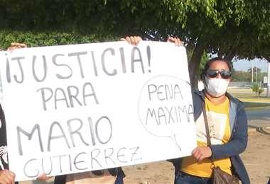 La familia de Mario Gutiérrez exige justicia