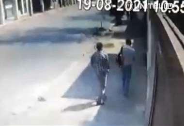 Una cámara de seguridad grabó el crimen