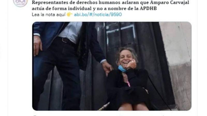 La estatal ABI publica un montaje fotográfico utilizado para desacreditar a Carvajal