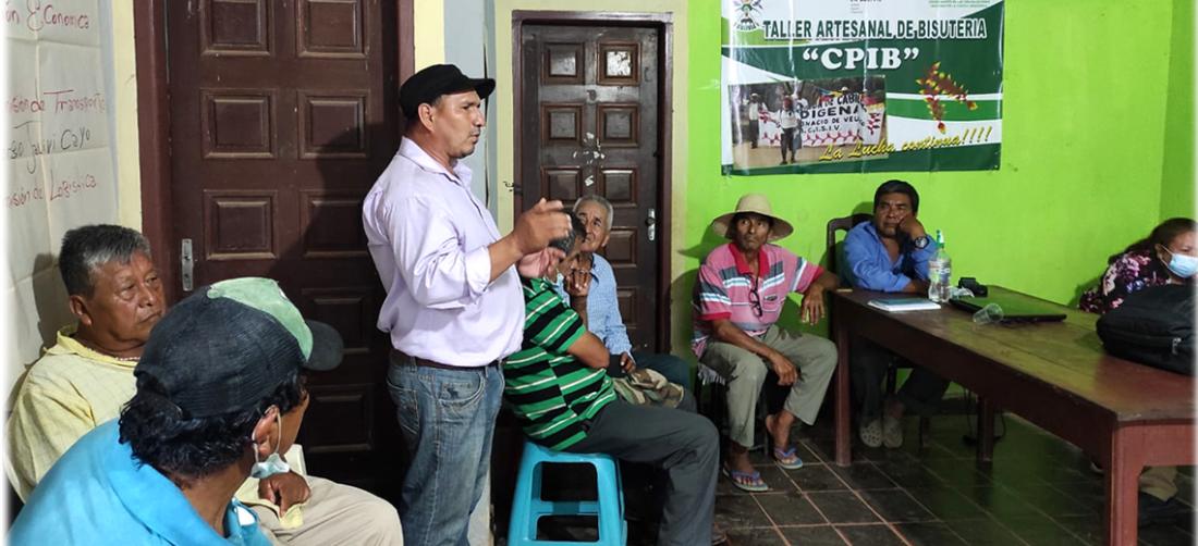 Los originarios ultimas detalles en Trinidad desde donde partirá la caminata a Santa Cruz