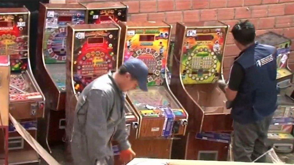 Imagen de archivo de máquinas de juego.