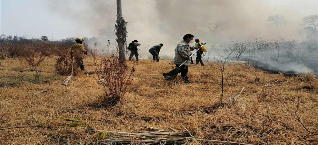 El fuego no da tregua en las zonas afectadas