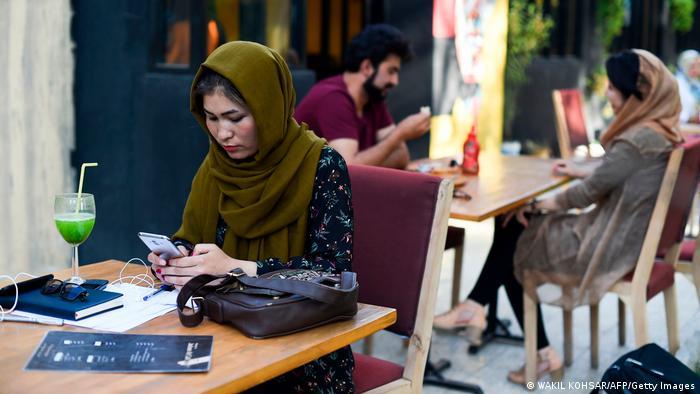 Un café en el centro de Kabul, antes del regreso de los talibanes