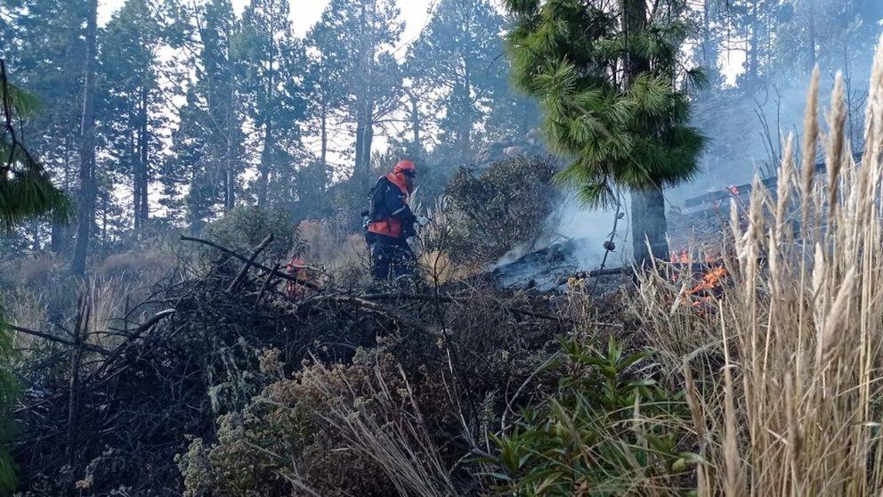 Incendio forestal en Sacaba.