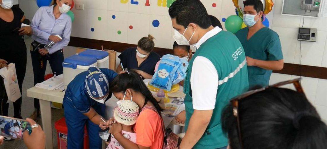 El Sedes llama a los padres a vacunar a sus niños menores de seis años (Foto: PAHO)