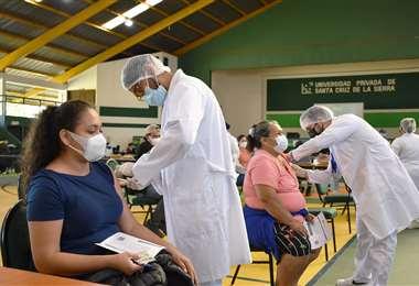 Punto de vacunación en Santa Cruz