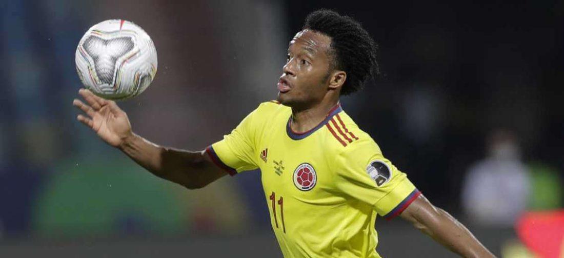 Cuadrado es titular inamovible en la selección colombiana. Foto: Internet
