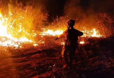 Cerca al mediodía la Gobernación alertó que habían tres incendios activos en Santa Cruz