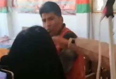 Los militantes se lanzaron acusaciones mutuas (Foto: Captura video)
