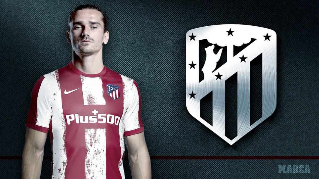 Antoine Griezmann de nuevo con la camiseta rojiblanca del Atlético de...