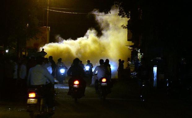 Fumigación para evitar a los mosquitos en Allahabad. (GETTY IMAGES)