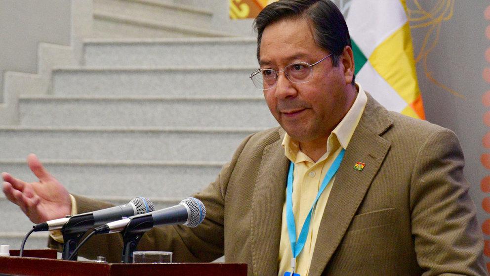 Luis Arce, presidente de Bolivia. APG