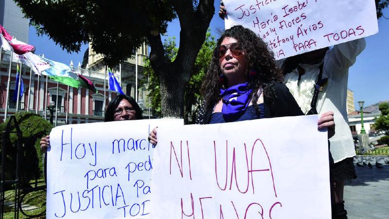 Bolivia registra 5 feminicidios y un infanticidio en casi una semana