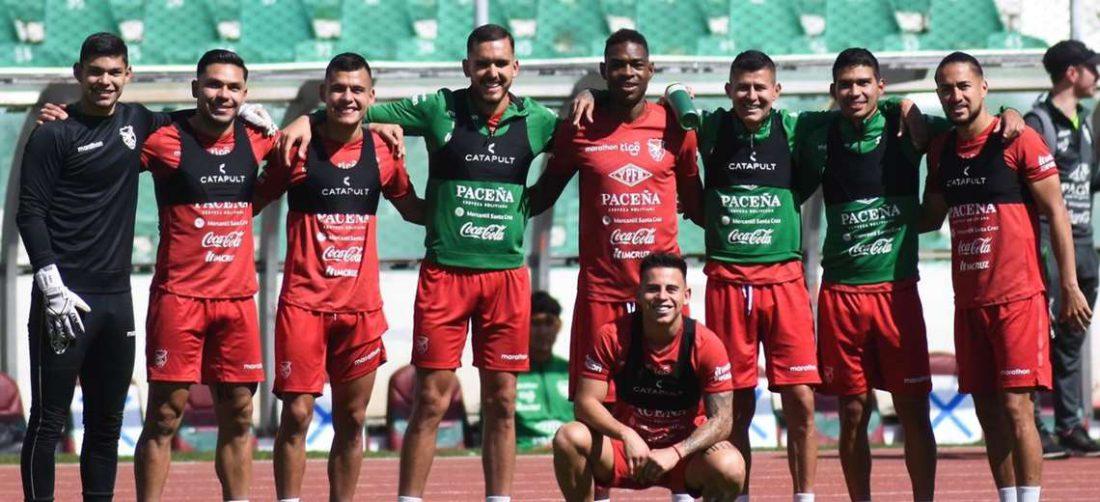 La selección cerró este miércoles su trabajo en el Hernando Siles. Foto: FBF