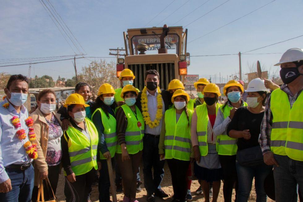 Lanzan un plan de empleo que beneficiará a 30 barrios de Tarija