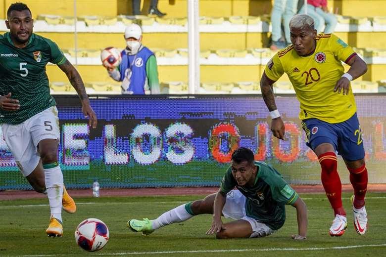 Bolivia empató ante Colombia en el Siles. Foto: AFP