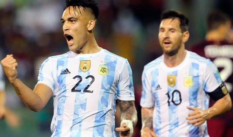Argentina derrotó 3-1 a Venezuela por la novena fecha de eliminatorias sudamericanas. Foto: ESPN/Twitter