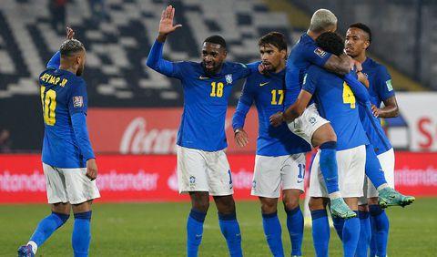 El Estadio Monumental de Santiago fue el escenario donde se enfrentan Chile y Brasil por las eliminatorias. Foto: AFP