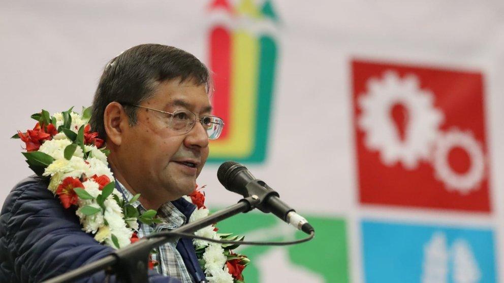 El presidente de Bolvia, Luis Arce.