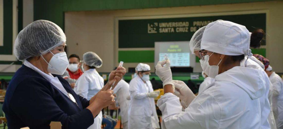 El centro de vacunación en la UPSA fue habilitado el 4 de julio.