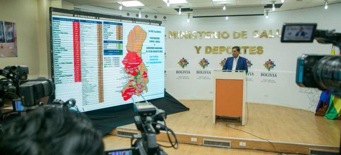 La presentación de los datos de La Paz I Salud.