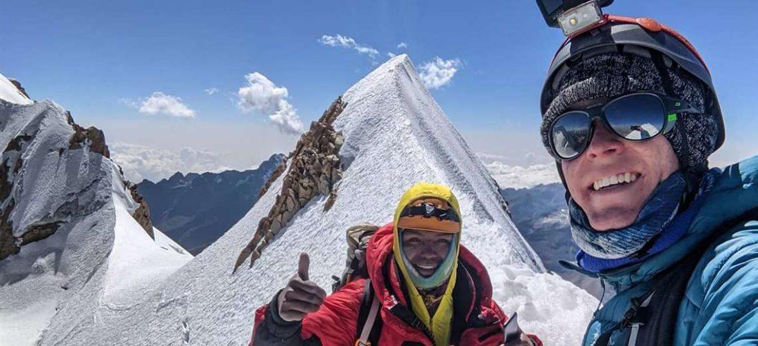 Una de las últimas fotos que publicó el montañista de EEUU (Foto: muro de Facebook)