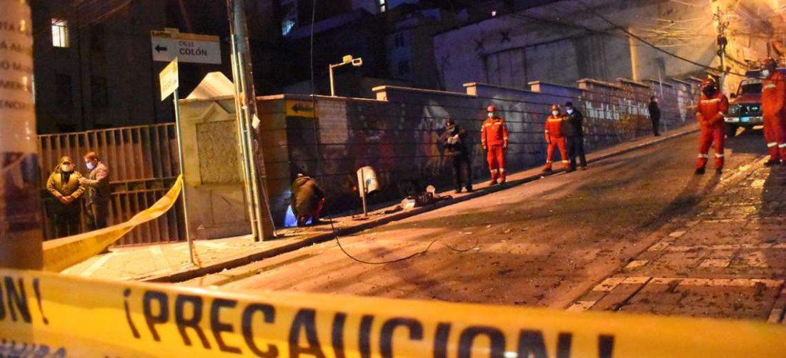 La explosión registrada en La Paz I APG Noticias.