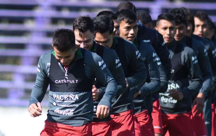 La Verde entrenará este lunes y martes en Montevideo. Foto: FBF