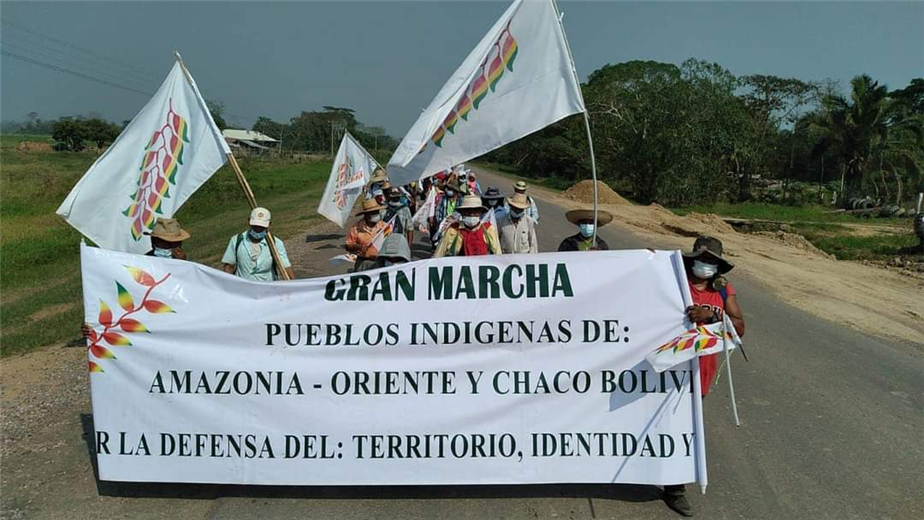 La marcha partió el 25 de agosto desde Trinidad. Foto. Desther Ágreda