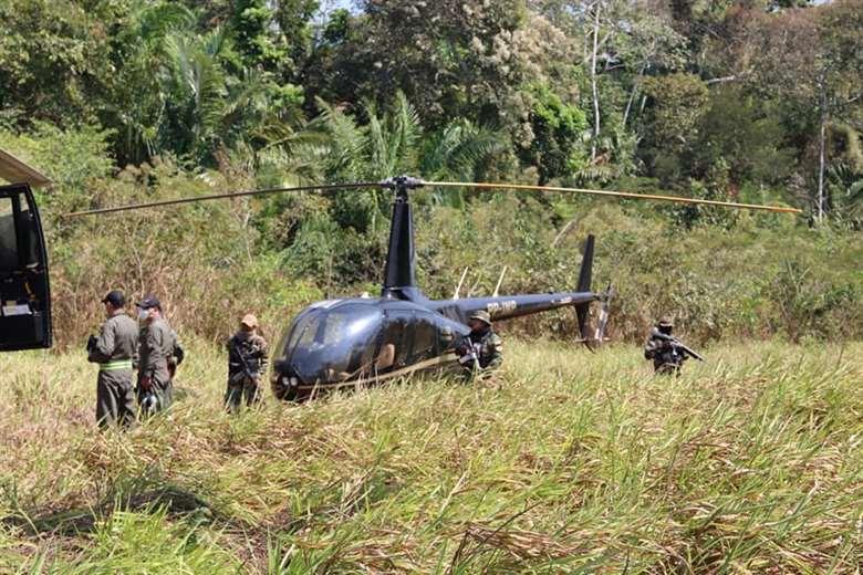 El helicóptero que usaba el arrestado fue secuestrado por la Felcn
