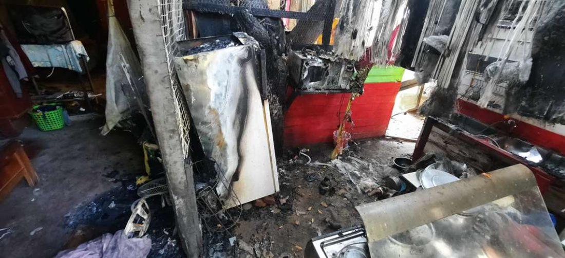 El fuego arrasó con todo en la vivienda