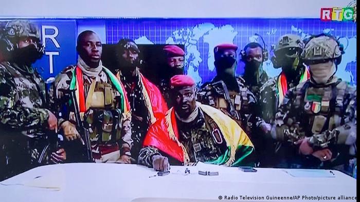 Guinea | Fernsehansprache Mamady Doumbouya