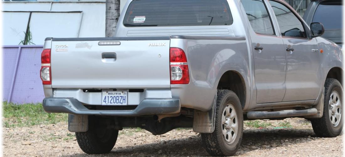 Camioneta de la Alcaldía que fue detenida el fin de semana. Foto. Juan Carlos Torrejón