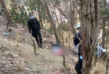 La mujer descuartizada en La Paz fue hallada en la zona de Inca Llojeta
