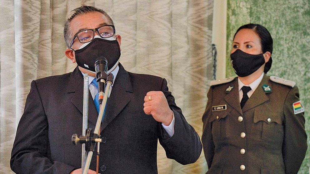 El viceministro de Régimen Interior y Policía, Nelson Cox, tras su posesión. APG
