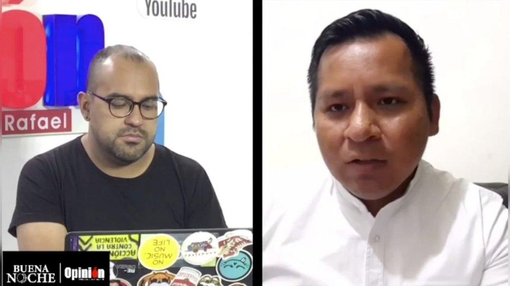 El secretario de Desarrollo Humano de la Gobernación, Carlos Solá, en una entrevista con el programa Buena Noche de OPINIÓN.