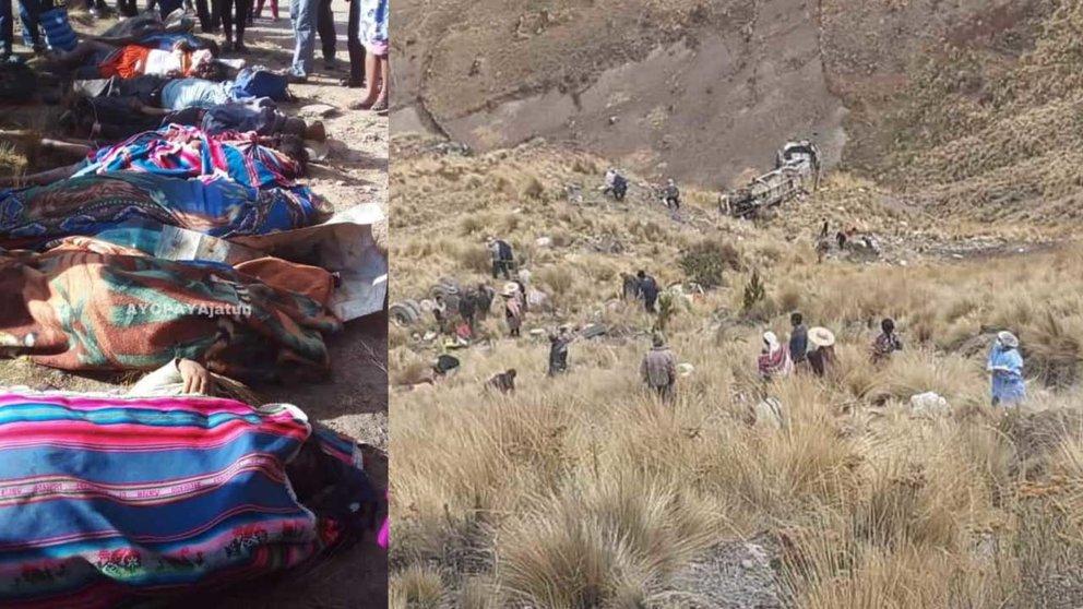 Bus se embarranca y deja 23 fallecidos en la ruta Morochata – Quillacollo, en Cochabamba. AYOPAYAJATUN