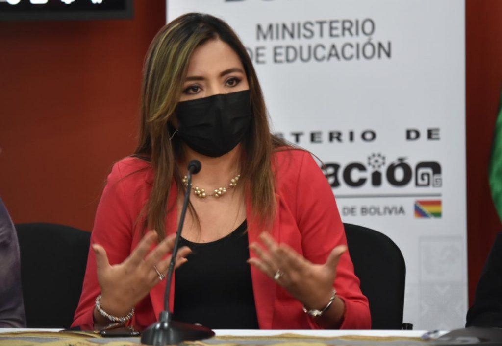 La viceministra de Comunicación, Gabriela Alcón. Foto de archivo: Abi.