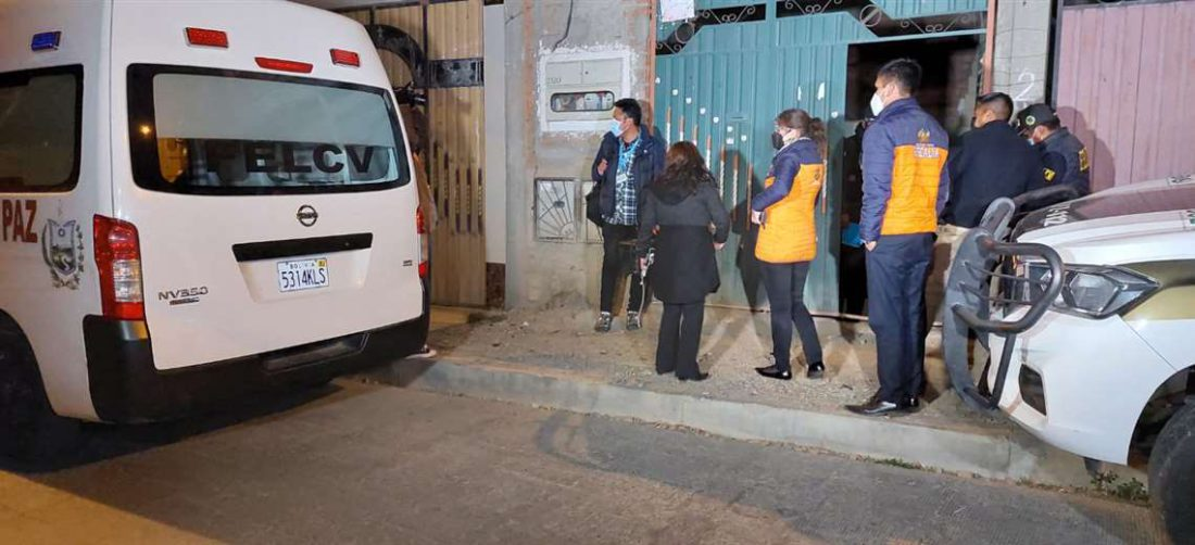 La Felcv llegó al lugar para realizar el levantamiento legal del cuerpo
