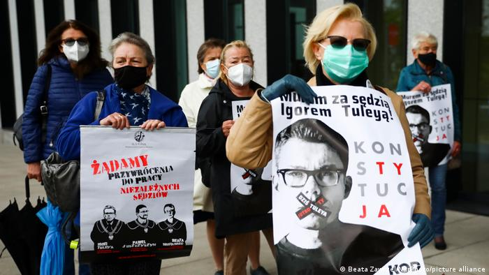 Polen   Protest für juristische Unabhängigkeit