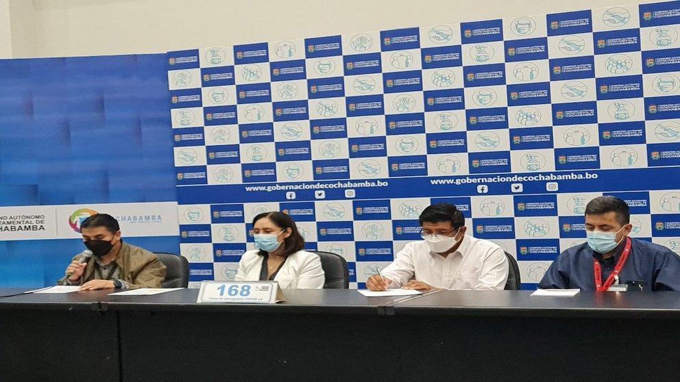 Conferencia de prensa para el reporte epidemiológico del Sedes. Foto: GADC.