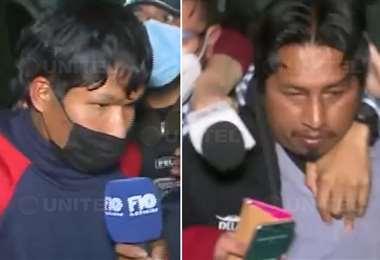 Los dos acusados fueron trasladados a la Policía