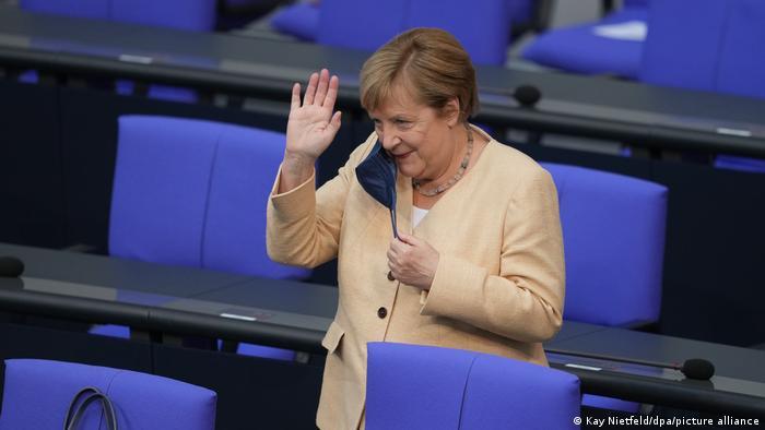 Deutschland Bundestag Angela Merkel