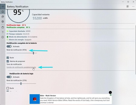Battery Notificacion Windows 3