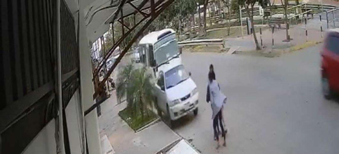 Imagen del video de seguridad