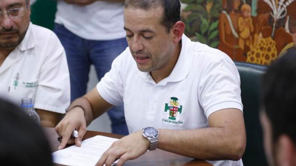 Fernando Camacho, gobernador de Santa Cruz. ABI
