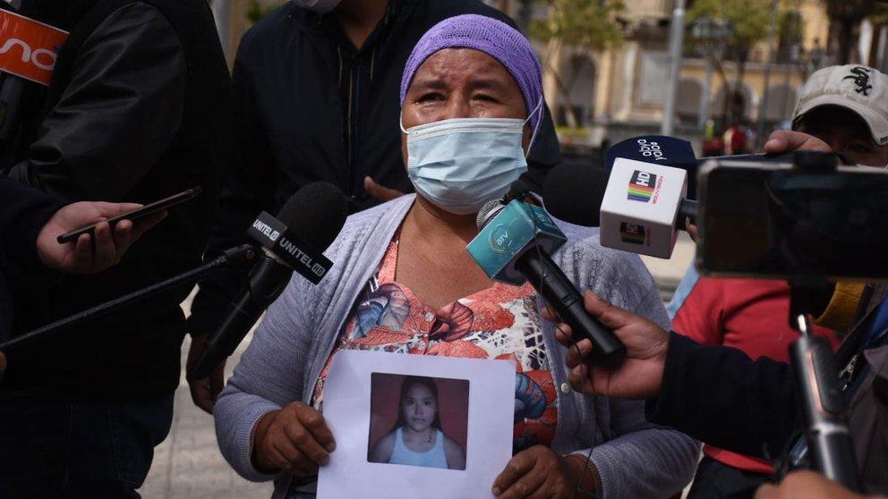 La madre de la adolescente estará este jueves 9 de septiembre en la Plaza Principal de Cochabamba.