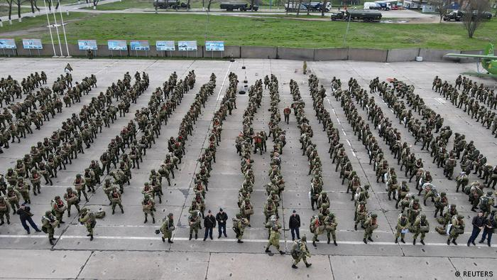 Maniobras militares rusas cerca de la frontera con Ucrania.