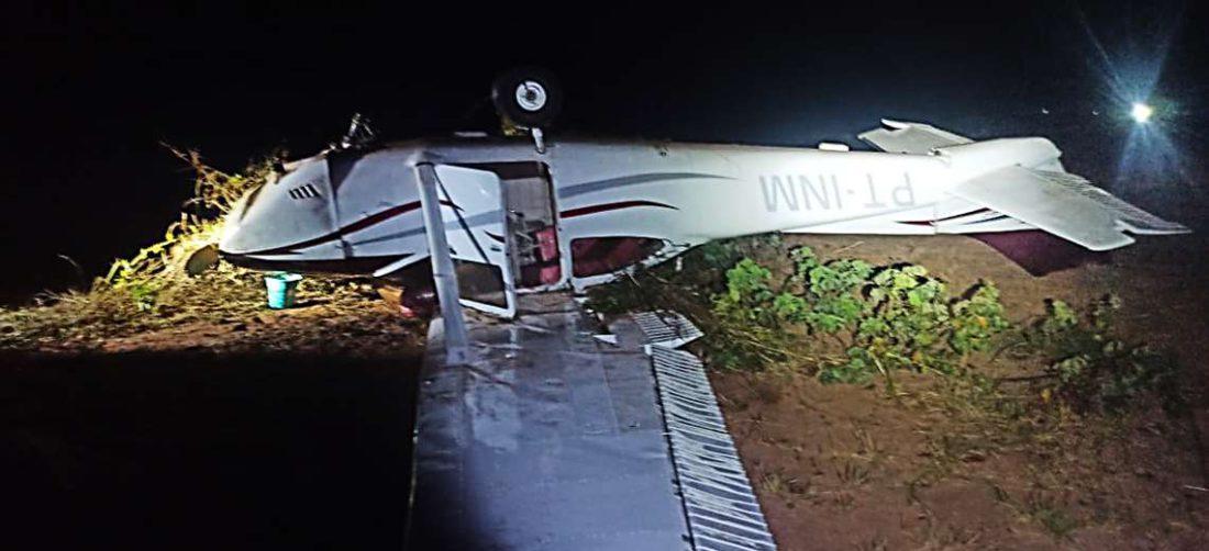 Así fue encontrada la avioneta que ingresó a Brasil y que tenía droga al interior