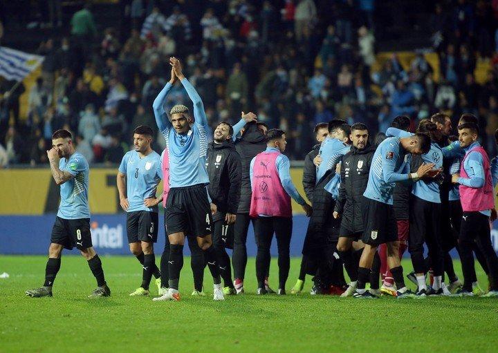 Se festejó mucho: Uruguay venía siendo criticado por el juego y los últimos resultados (Reuters).